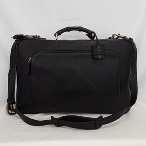 New GUCCI 325786 black leather travel suitcase